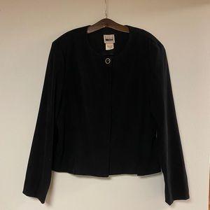 Vintage black pantsuit jacket
